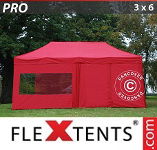 Racing tent 3x6 m Red, incl. 6 sidewalls