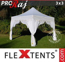 Racing tent 3x3 m White/Gold