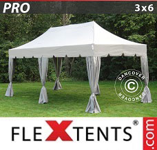 Racing tent 3x6 m Latte, incl. 6 decorative curtains