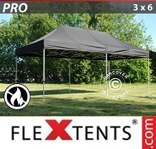 Racing tent 3x6 m Black, Flame retardant