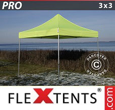 Racing tent 3x3 m Neon yellow/green