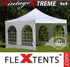 Racing tent 4x4 m White, incl. 4 sidewalls