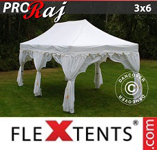 Racing tent 3x6 m White/Gold