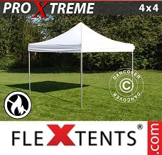 Racing tent 4x4 m White, Flame retardant