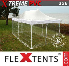 Racing tent 3x6 m Clear, incl. 6 sidewalls