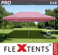 Racing tent 3x6 m Striped