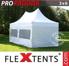 Racing tent 3x6 m White, Incl. 6 sidewalls