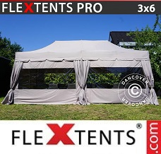 Racing tent 3x6 m Latte, incl. 6 sidewalls and 6...