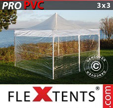 Racing tent 3x3 m Clear, incl. 4 sidewalls