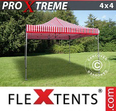 Racing tent 4x4 m Striped