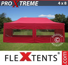 Racing tent 4x8 m Red, incl. 6 sidewalls