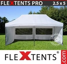 Racing tent 2.5x5 m White, incl. 6 sidewalls