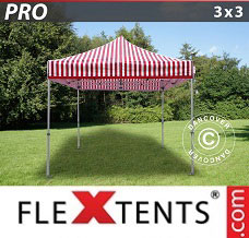 Racing tent 3x3 m striped