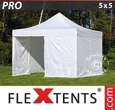 Racing tent 5x5 m White, incl. 4 sidewalls
