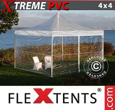 Racing tent 4x4 m Clear, incl. 4 sidewalls