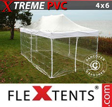 Racing tent 4x6 m Clear, incl. 8 sidewalls
