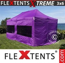 Racing tent 3x6 m Purple, incl. 6 sidewalls