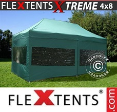 Racing tent 4x8 m Green, incl. 6 sidewalls