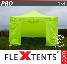 Racing tent 4x4 m Neon yellow/green, incl. 4 sidewalls