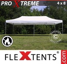 Racing tent 4x8 m White, Flame retardant