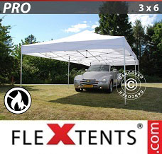 Racing tent 3x6 m White, Flame retardant