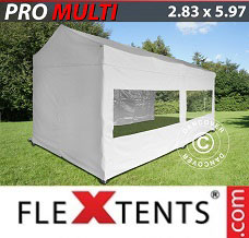 Racing tent 2.83x5.87 m White, incl. 6 sidewalls
