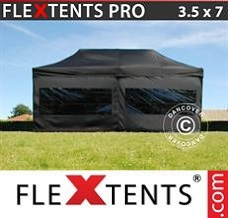 Racing tent 3.5x7 m Black, incl. 6 sidewalls