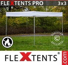 Racing tent 3x3 m White, Flame Retardant