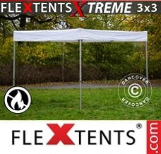 Racing tent 3x3 m, White, Flame Retardant