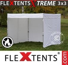 Racing tent 3x3 m, White, Flame...