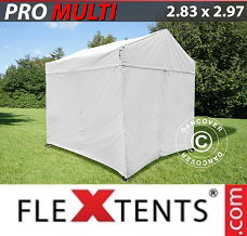 Racing tent 2.83x2.97 m White, incl. 4 sidewalls