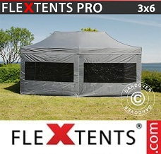 Racing tent 3x6 m Grey, incl. 6 sidewalls