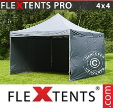 Racing tent 4x4 m Grey, incl. 4 sidewalls
