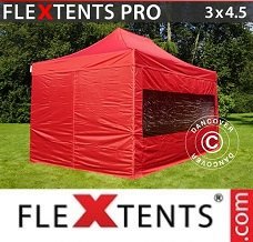 Racing tent 3x4.5 m Red, incl. 4 sidewalls