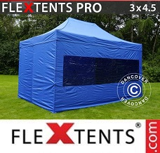 Racing tent 3x4.5 m Blue, incl. 4 sidewalls