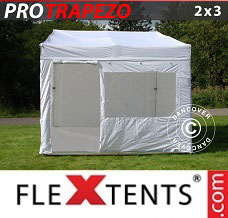 Racing tent 2x3 m White, incl. 4 sidewalls