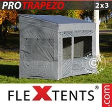 Racing tent 2x3 m Grey, incl. 4 sidewalls