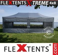 Racing tent 4x8 m Grey, incl. 6 sidewalls