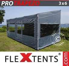 Racing tent 3x6 m Grey, incl. 4 sidewalls