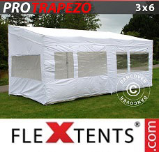 Racing tent 3x6 m White, incl. 4 sidewalls