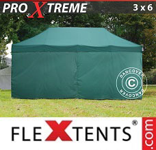Racing tent 3x6 m Green, incl. 6 sidewalls