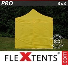 Racing tent 3x3 m Yellow, incl. 4 sidewalls