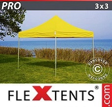 Racing tent 3x3 m Yellow