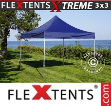 Racing tent 3x3 m Dark blue