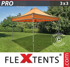 Racing tent 3x3 m Orange Reflective