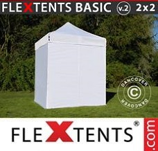 Racing tent 2x2 m White, incl. 4 sidewalls