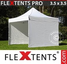 Racing tent 3.5x3.5 m White, incl. 4 sidewalls