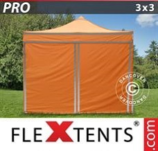 Racing tent 3x3 m Orange Reflective, incl. 4...